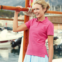 Polo femme de marque Fruit Of The Loom
