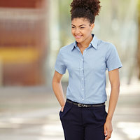 Ladyfit Oxford short sleeve shirt