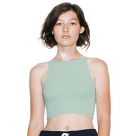 Cotton Spandex sleeveless crop top (8369)
